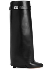 Givenchy Black Fold Over Leather Boots