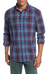 Tailor Vintage Men's Plaid Heavy Twill Shirt Cabin Plaid