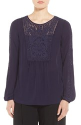 Tahari Women's Elie Beaded Silk Blouse