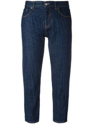 Maison Martin Margiela Mm6 Cropped Tapered Jeans Blue