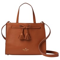 Kate Spade New York Hayes Street Isobel Leather Small Tote Bag Warm Cognac