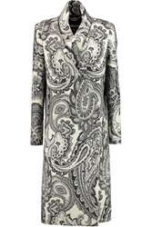 Just Cavalli Metallic Wool Blend Jacquard Coat