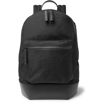 Berluti Volume Leather Trimmed Nylon Backpack Black