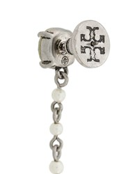 Tory Burch Hanging Gem Earrings Silver