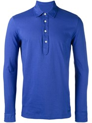 Massimo Piombo Mp Jersey Polo Shirt Blue