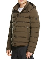 Moncler Nazaire Quilted Down Jacket With Hood Olive