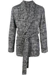 Dolce And Gabbana Tartan Cardigan Grey