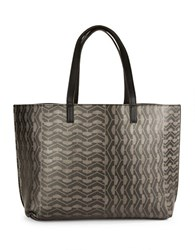 Echo Geometric Patterned Tote Black