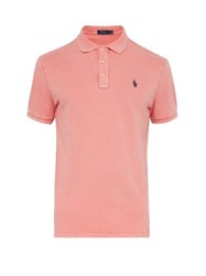 Polo Ralph Lauren Logo Embroidered Washed Cotton Jersey Shirt Red