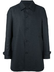 Z Zegna Button Up Coat Grey
