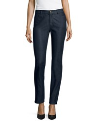 Lafayette 148 New York True Blue Denim Jeans Midnight Black