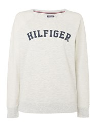 Tommy Hilfiger Iconic Track Loungewear Sweat Top Ivory