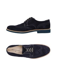 Angelo Nardelli Lace Up Shoes Dark Blue