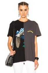 Off White Reassembled Tee In Black Gray Black Gray