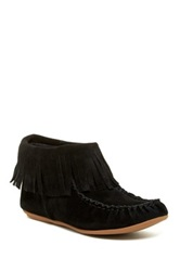 Bettye Muller Tango Fringe Moccasin Ankle Boot Black