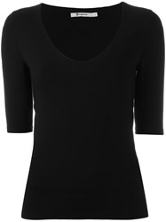 Alexander Wang T By Cut Out Back Top Black