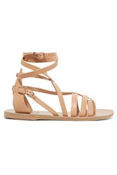 Ancient Greek Sandals Satira Leather Beige