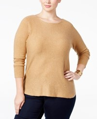 Inc International Concepts Plus Size Tunic Sweater Only At Macy's Heather Ginger