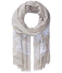 Collection Xiix Sparkling Floral Wrap Grey Scarves Gray