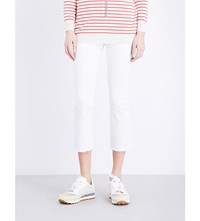 Brunello Cucinelli Cropped Skinny Mid Rise Jeans White