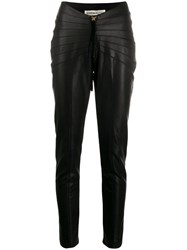 Nineminutes Pleated Skinny Trousers Black