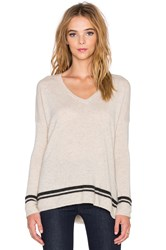 Velvet By Graham And Spencer Stormy Cashmere Classics V Neck Sweater Tan