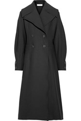Beaufille Ono Double Breasted Twill Coat Black
