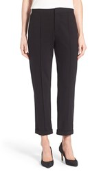 Nydj Petite Women's 'Denise' Cuff Slim Leg Ponte Ankle Pants Black