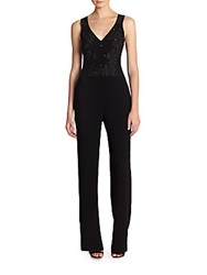 Sachin Babi V Neck Jumpsuit Black