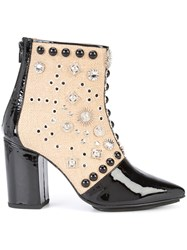 Toga Studded Ankle Boots Black