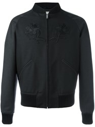 Gucci Embroidered Bomber Black