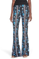 Hip Mixed Print Flare Leg Pants Multi