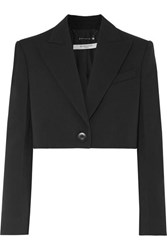 Givenchy Cropped Wool And Silk Blend Twill Blazer Black