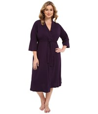 Jockey Plus Size 48 Cotton Robe Eggplant Women's Robe Purple