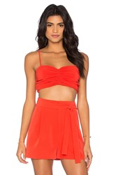 Kendall Kylie Rouched Bustier Red