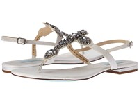 Blue By Betsey Johnson Gem Ivory Satin Women's Sandals Bone