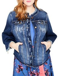 Rachel Roy Plus Bell Sleeve Denim Jacket Fecility