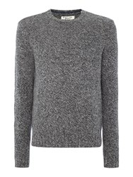 Original Penguin Mouline Lambswool Crew Neck Knitted Jumper Grey