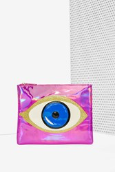 Nasty Gal No More Tears Holographic Clutch