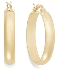 Giani Bernini 24K Gold Over Sterling Silver Earrings Large Hoops