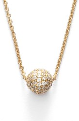 Women's Bony Levy Small Diamond Pave Ball Pendant Necklace Yellow Gold Limited Edition Nordstrom Exclusive