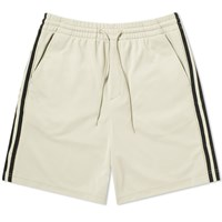 Y 3 Three Stripe Lux Track Short Neutrals