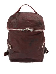 Guidi Top Zipped Backpack Red