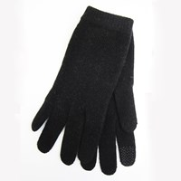 Portolano Tech Capable Cashmere Gloves Black