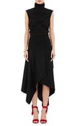 J.W.Anderson Women's Mock Turtleneck Sleeveless Dress Black