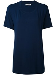 Dondup 'Sunbury' T Shirt Women Elastodiene Viscose S Blue
