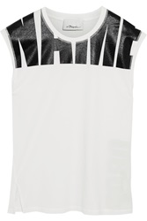 3.1 Phillip Lim Printed Cotton Jersey Tank White