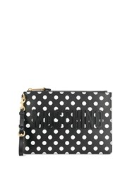 Moschino Polka Dot Clutch Black