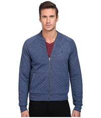 Original Penguin Quilted Track Jacket Dark Sapphire Men's Coat Blue