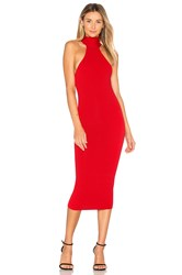 Jay Godfrey Fox Dress Red